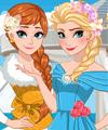 Elsa and Anna Bridesmaid Dresses Dress Up Game