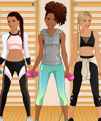 BFF Studio Workout Friends Dress Up Game
