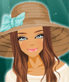 Beach Hat Make Up Game