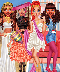 Princesses Ancient vs Modern Looks Dress Up Game