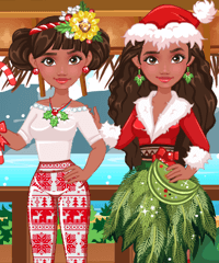 Moana for Christmas Dress Up Game