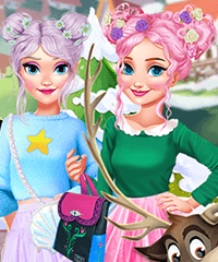 A Day in Ice Kingdom Dress Up Game