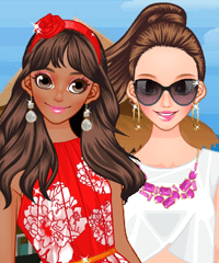 Tropical Trip Dress Up Game