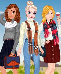 Autumn Ladies Cozy Trends Dress Up Game