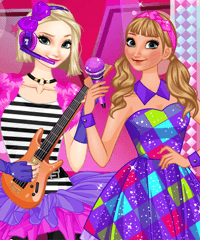 Elsa and Anna Music Band Dress Up Game
