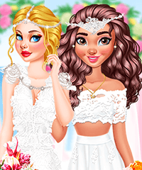 Princess Wedding Theme Tropical Dress Up Game