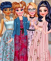 Princesses Cherry Blossom Spring Dance Dress Up Game