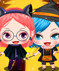 Little Witches Dress Up Game