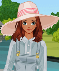 Wide Brim Hats Dress Up Game
