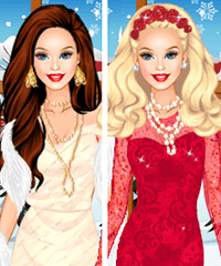 Barbie Glittery Fashion Diva Dress Up Game