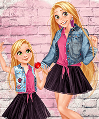Princess Mom and Daughter Cute Family Look Game