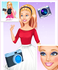 Barbie First Model Book Dress Up Game
