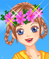 Flowers in Hair Dress Up Game