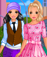Girly and Tomboy Dress Up Game