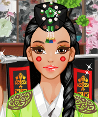 Traditional Korean Wedding Dress Up Game