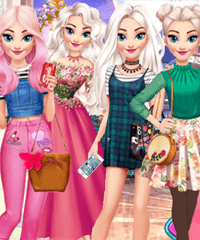 Elsa Year Round Fashionista Dress Up Game
