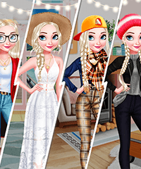 Elsa 4 Seasons Dress Up Game