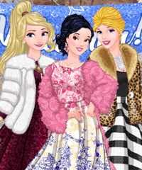 Princesses Welcome Winter Ball Dress Up Game