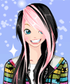 Emo Winter Scene Dress Up Game