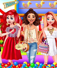Disney Princess Fun Park Dress Up Game
