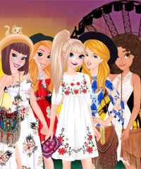 Princesses Festival Fun Dress Up Game