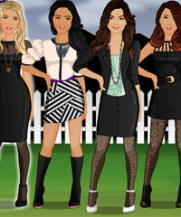 Pretty Little Liars BFF Studio Dress Up Game