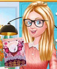 Barbie Reading Nook Dress Up Game