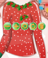 Barbie and Ken Ugly Christmas Sweater Design Game