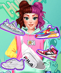 DIY Trendy Sneakers Design and Dress Up Game