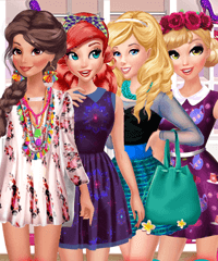 Princess BFFs Selfies Dress Up Game