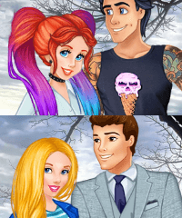 Princess Compatible Couples Dress Up Game