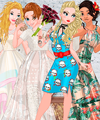 Princess Offbeat Brides Dress Up Game
