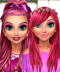 BFF Pink Makeover Game