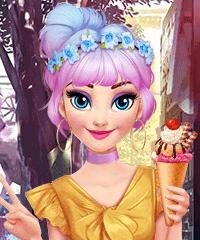 Elsa Pastel Summer Dress Up Game