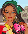 Barbie Travels to Africa Dress Up Game