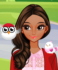 Girl and Birds Dress Up and Make Up Game