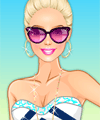 Barbie at the Beach Dress Up Game