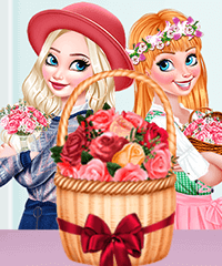 Princesses Florists Dress Up Game