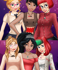 Beauty and the Geek Party Dress Up Game