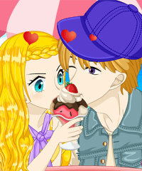 Ice Cream Couple Lovers Dress Up Game