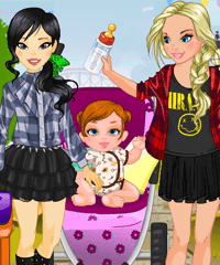 BFF and Baby Dress Up Game