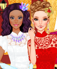 Ice Princess Fire Princess Dress Up Game