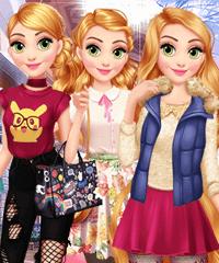 Rapunzel Year Round Fashionista Dress Up Game