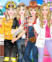 Barbie Loves her Job Dress Up Game