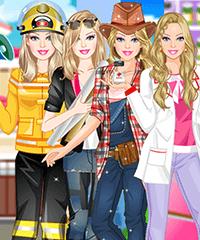 Barbie Loves her Job Dress Up Game