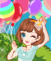 My Colorful Balloons Dress Up Game