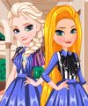 Elsa and Rapunzel Matching Outfits Dress Up Game