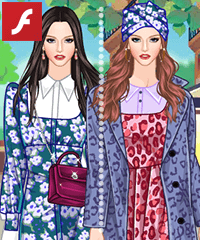 Girlish 1970 Dress Up Game