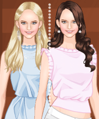 Baby Pink x Baby Blue Dress Up Game