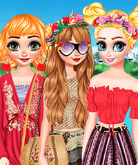 Princesses Tropical Escape Dress Up Game